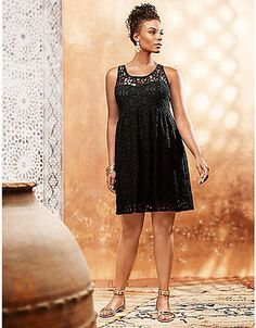 clothing-accessories: NEW LANE BRYANT PLUS SIZE BLACK SLEEVELESS LACE ILLUSION DRESS SZ 26 #Fashion - NEW LANE BRYANT PLUS SIZE BLACK SLEEVELESS LACE ILLUSION DRESS SZ 26...