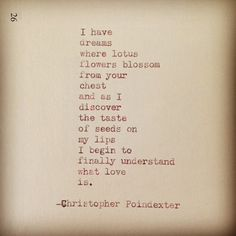 by | christopher poindexter