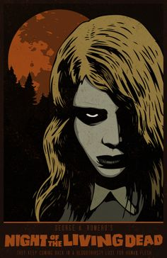 Night of the Living Dead- 11 x 17 Inch Poster - George A. Romero - Horror Movie - Zombie