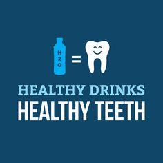 Cuando cambias tu refresco por 10 vasos de agua natural al día no sólo promueves buena salud sino que mantiene tus dientes libres del ácido que contienen la Coca y otras bebidas altas en azúcar. Bebidas saludables = Dientes saludables