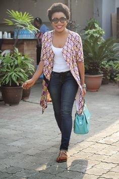 The jacket and bag just made my day. LAGOS STREET STYLE: Big Ideas...Bigger Smiles