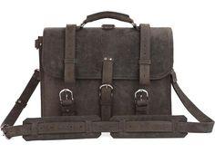 "JMD Crazy Horse Leather Men/'s Business Laptop Tote Bag Briefcase Backpack 16.5/"""