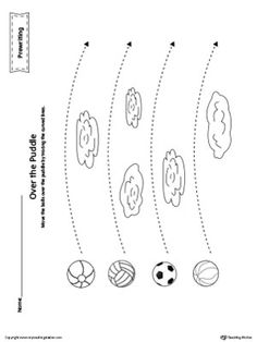 **FREE** Balls Curved Line Tracing Prewriting Worksheet Worksheet.Move the balls…