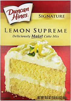 Duncan Hines Signature Moist Cake Mix - Lemon Supreme - oz The simple way to create appetizing desserts Perfect for making birthday treats Whip up an easy dessert in no time The perfect way to satisfy your sweet tooth So moist, so delicious, and so much Weight Watcher Desserts, Weight Watchers Snacks, Muffins Weight Watchers, Weight Watchers Kuchen, Weight Loss, Ww Desserts, Lemon Desserts, Dessert Recipes, Desserts