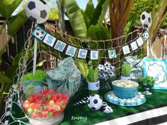 Girls Soccer Party Birthday Party Ideas | Photo 8 of 13 | Catch My Party