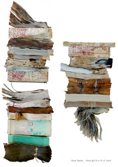 Book Stacks - book sculpture by Lisa Occhipinti #assemblage #art