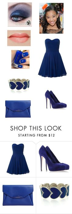 """""""Amandla's Award Outfit"""" by fancyketchup ❤ liked on Polyvore featuring TFNC, Le Silla, Givenchy, Oasis and L'Oréal Paris"""