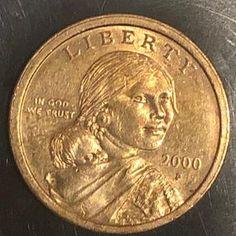 SUPER RARE offset SACAGAWEA 2000p U.S. Dollar Coin | Etsy Valuable Pennies, Valuable Coins, Rare Pennies, One Dollar, Dollar Coin, Rare Coin Values, Old Coins Worth Money, Sacagawea Dollar, Coin Belt