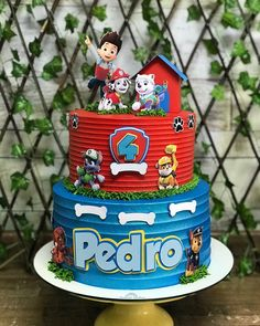 Paw Patrol Birthday Decorations, Paw Patrol Birthday Cake, Paw Patrol Party, Po Patrol, Torta Paw Patrol, Birthday Boy Shirts, Baby Boy Birthday, Baby Boy Cakes, Cakes For Boys