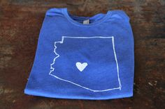 Blue Mens AZ Love Tee - Show your #Arizona love with this cool blue tee! #shoplocal
