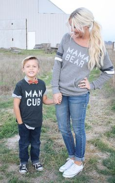 Cute Boy Names mama bear ft man cub Cute Boy Names, Cute Boys, Cute Babies, Baby Names, Outfits Madre E Hija, Man Cub, Boy Outfits, Cute Outfits, Mom And Son Outfits