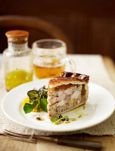 Rabbit pie - This is a real treat – packed with gamey rabbit, pork belly, sweet prunes and a dash of Armagnac