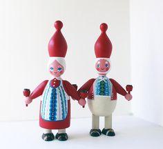 Denmark Christmas Vintage Scandinavian Mr and Mrs Santa Clause Mogens Eigenbrod