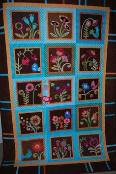 My Whimsical Garden......now quilted!!!!!