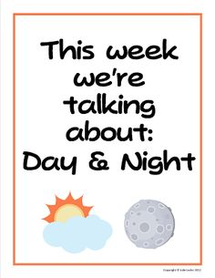 Teaching The Little People: Learning About Day and Night in Preschool                                                                                                                                                                                 More