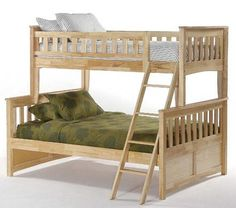 Spice Natural Twin/Full Spice Bunk Bed by NE Kids