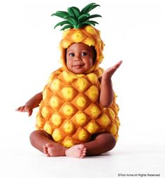 Baby fruit photo idea, ananas