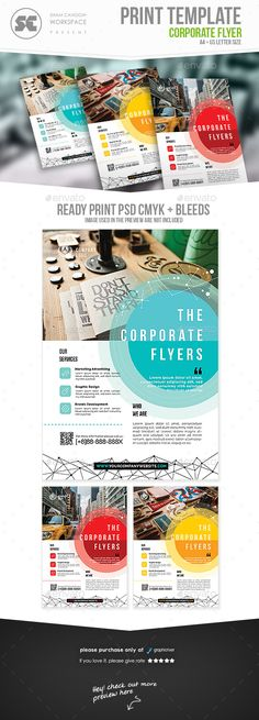 Corporate Flyer Template PSD. Download here: http://graphicriver.net/item/corporate-flyer/16815426?ref=ksioks