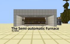 Semi Automatic Furnace Minecraft Stuff, Minecraft Ideas, Minecraft Essentials, Minecraft Redstone Tutorial, Minecraft Creations, Terraria, Tutorials, Board, Manualidades