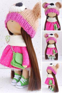 Tilda doll Interior doll Cloth doll Fabric by AnnKirillartPlace