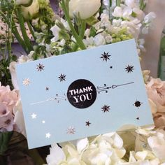 Thank You Notes, Stardust, St Pancras stationery collection. Gold foil on duck egg blue board, from £12.50 eagleeyedbride.com #wedding #metallic #star
