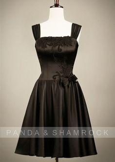 little black dress/wedding/bridesmade dress/bridemaid/custom made/plus size/vintage style/lace-237