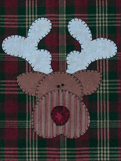 Reindeer Applique Wallhanging Patternlet by The Wooden Bear Applique Templates, Applique Patterns, Quilt Patterns, Owl Templates, Applique Towels, Applique Quilts, Christmas Applique, Christmas Sewing, Christmas Quilting