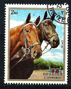 Sharjah 1972 Postage Stamps -- Horses