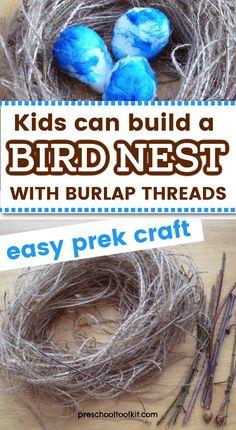 Sensory Activities, Sensory Play, Activities For Kids, Birds And Their Nests, Bird Nest Craft, Easy Bird, Animal Habitats, Robins Egg, Pretend Play