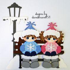 Winter Snowman Kids Paper Piecing PreMade 4 Border Scrapbook Album danderson651