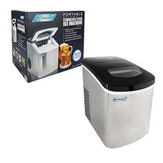 MaxiMatic MIM-5802 Mr Freeze Portable Ice Maker, Stainles...…