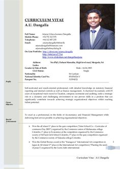 CURRICULUM VITAE                    A.U. Dangalla                    Full Name:        Arjuna Udaya kumara Dangalla       ... Resume Format Free Download, Biodata Format Download, Resume Template Free, Cv Format For Job, Resume Format In Word, Latest Resume Format, Resume Format For Freshers, Bio Data For Marriage, Teaching Resume