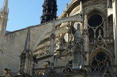 Cathédrale Notre Dame de Paris - Flying Buttress by toadheaven, via Flickr