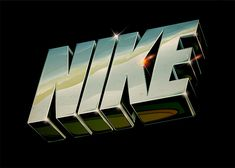Creative Typography, Lettering, and Nike image ideas & inspiration on Designspiration 90s Design, Retro Design, Design Art, Type Design, Interior Design, 3d Typography, Creative Typography, Lettering, Retro Futurism