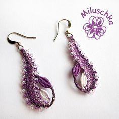 Lace Jewelry, Jewelery, Bobbin Lace Patterns, Lacemaking, Lace Heart, Beaded Embroidery, Lace Detail, Tatting, Crochet Earrings