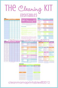 Printable Cleaning Schedule Template Fresh 31 Days to A Clean House Archives Clean Mama Cleaning Kit, Diy Cleaning Products, Cleaning Solutions, Cleaning Checklist, Cleaning Schedule Printable, Cleaning Schedules, Weekly Cleaning, Binder Organization, Household Organization