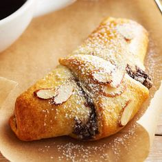 Chocolate almond croissants - uses almond paste and chocolate etc. but quick treat
