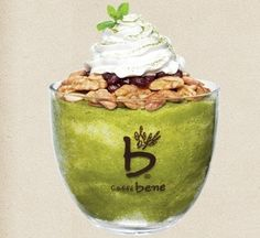 Korean shaved ice dessert: Green Tea Tower Bingsu (녹차타워빙수), 9800원, 1146kcal #Summer #KoreanFood