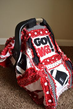 Car Seat Canopy, Nursing Cover, Sports Blanket, Custom, Arkansas Razorbacks Made to Order.