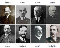 Real founders of the FED warburg, House, Wilson, Addich, Morgan, Vanderbilt, Schiff, Rockefeller