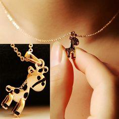 Cutie Giraffe Fashion Necklace | LilyFair Jewelry,$18.99!