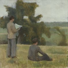 On the Map Sir William Coldstream (English, Oil paint on canvas. Coldstream shows fellow-artist Graham Bell standing reading a map, and his friend Igor Anrep sitting on the. Hayward Gallery, Off The Map, Textile Museum, Tate Gallery, Tate Britain, Digital Museum, English Artists, Art Uk, English Countryside