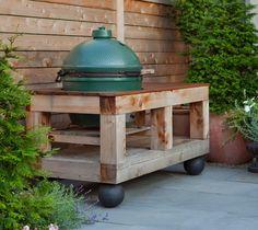 Big Green Egg Smoker Table. Custom By New Eco Landscapes. Brooklyn NY