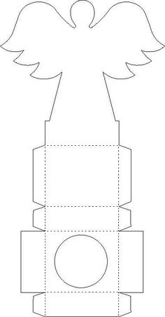 Oh My Primera Comunpión! Christmas Templates, Christmas Projects, Christmas Crafts, Christmas Decorations, Paper Box Template, Printable Box, Angel Crafts, Free To Use Images, Diy Gift Box