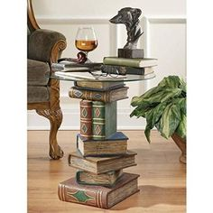 Shop Basil Street Gallery Stacked Volumes Sculptural Glass Topped Book Table  At Loweu0027s Canada. Find Our Selection Of End Tables At The Lowest Price ...