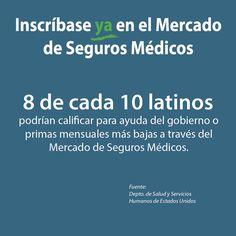 8 de cada 10 #latinos podrían recibir ayuda del gobierno o primas reducidas en el Mercado de Salud. #Asegurate