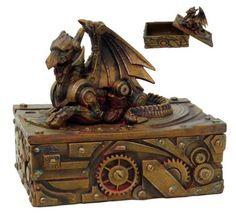 Steampunk Dragon Jewelry Box Statue Figurine Victorian Scifi Robotic Collectible Rusty Finish Pacific Trading http://www.amazon.com/dp/B00A8SWNHW/ref=cm_sw_r_pi_dp_6.p9tb03ZPBFY