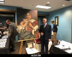 How to win a prank war. My friend snuck a heinous portrait of me into a charity auction that I was attending. Sold for $200.#funny #lol #lolzcat