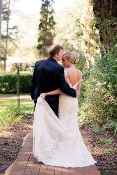 gorgeous picture and back of lace wedding dress