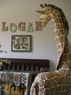 Gorgeous Paper Mache Giraffe for a baby's nursery
